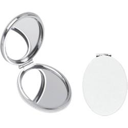 Oval Suni Deri Cep Aynası
